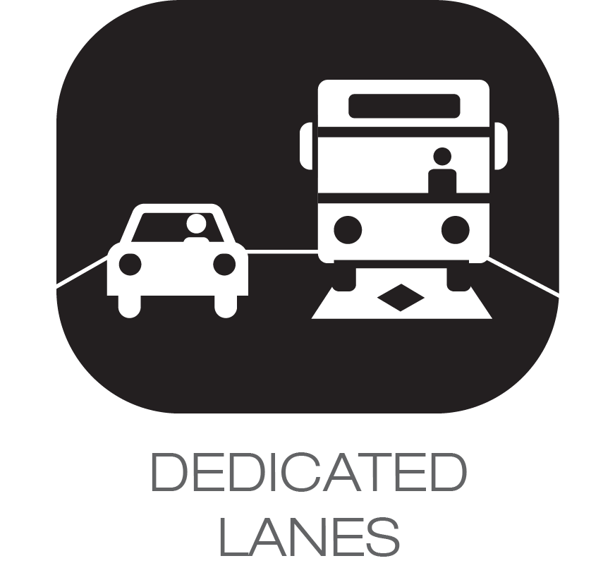dedicated lanes icon
