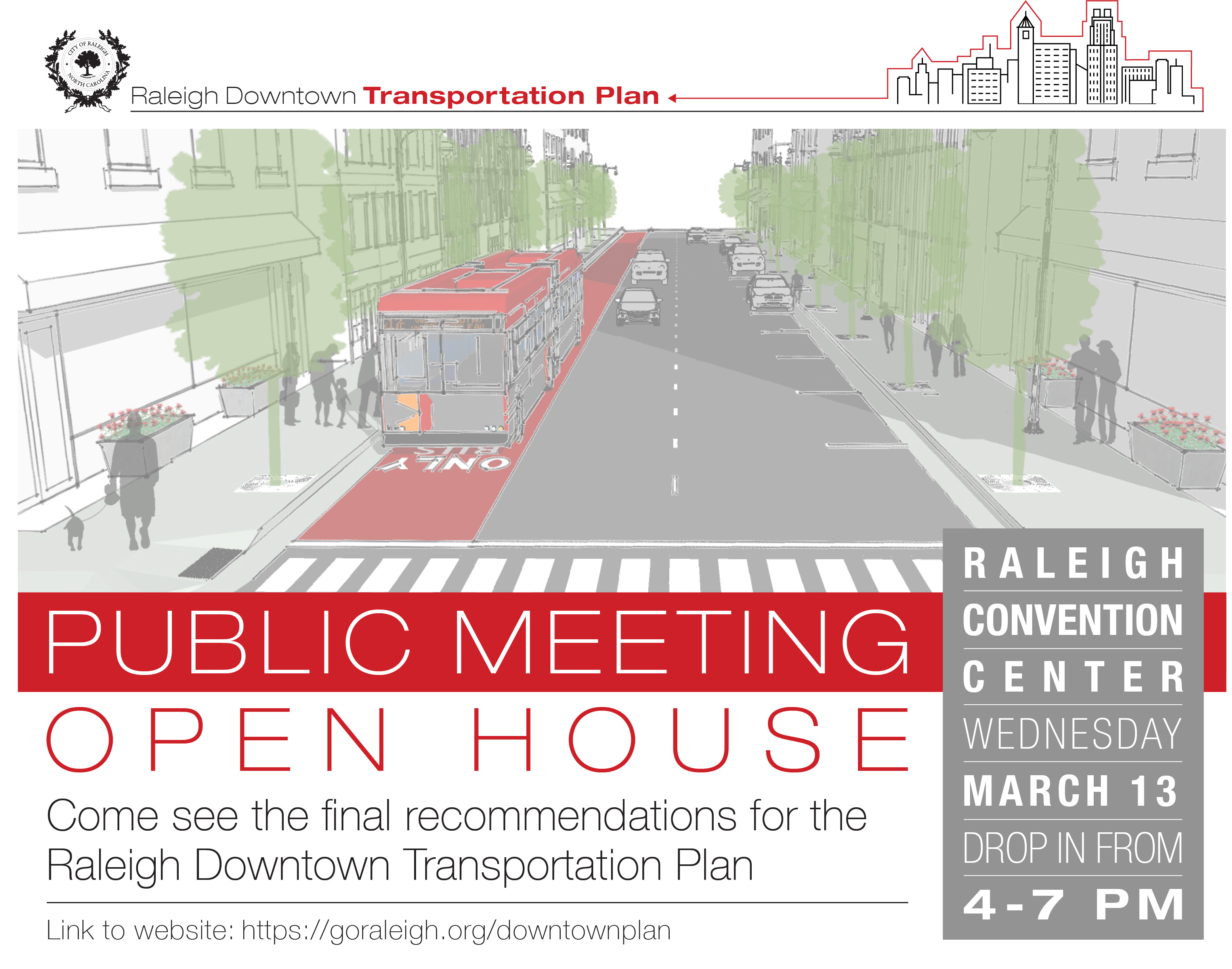 Downtown Plan English Flyer