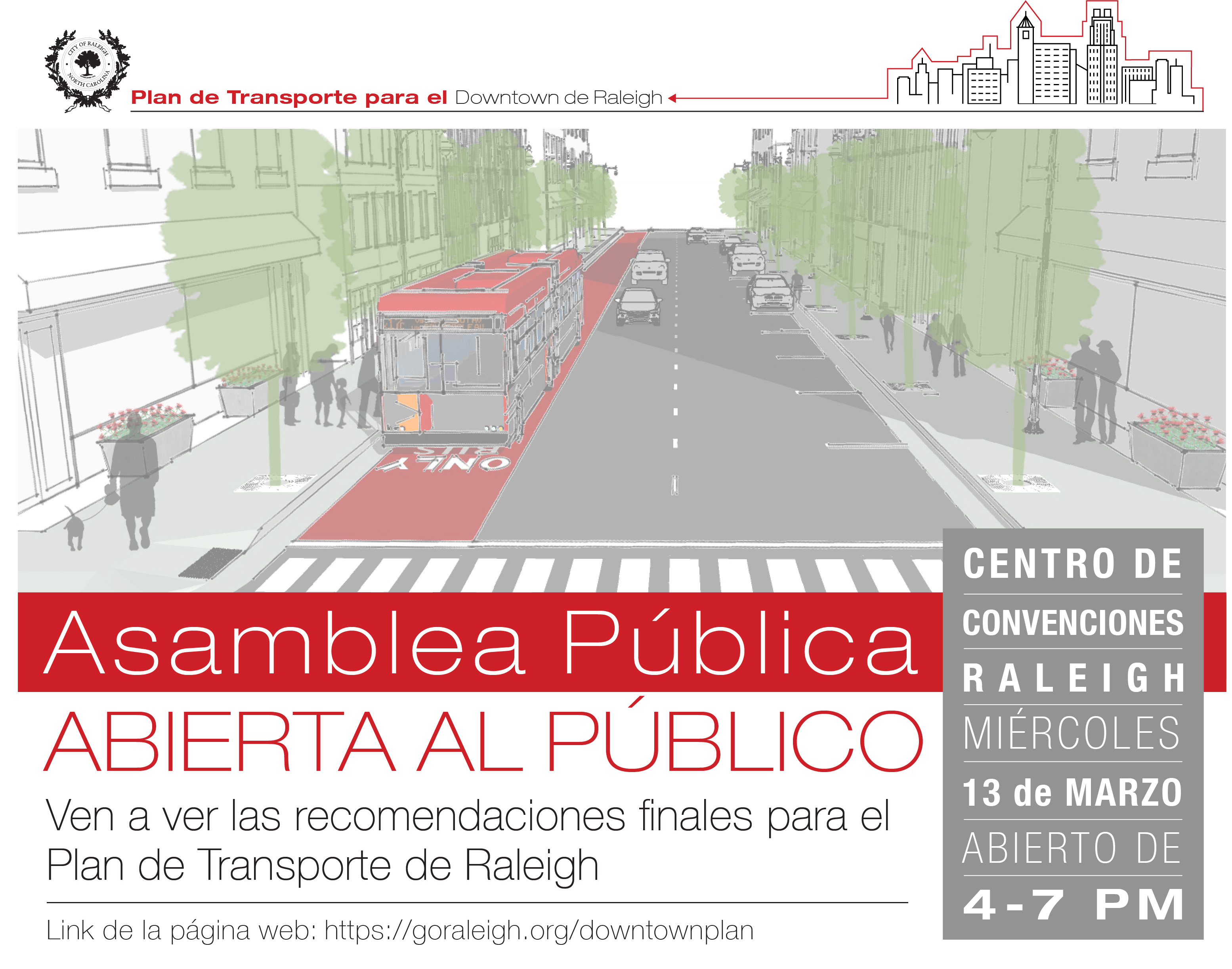 Downtown Plan Spanish Flyer