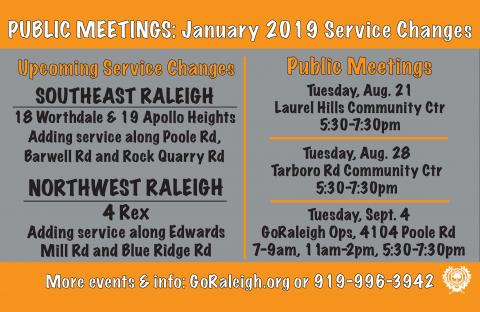 GoRaleigh Public Meetings