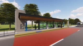Render of BRT Shelter
