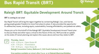 Bus Rapid Transit kickoff meeting postcard