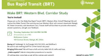 wake BRT flyer