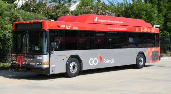 GoRaleigh compressed natural gas bus