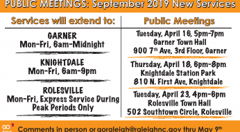 GoRaleigh April Public Meetings