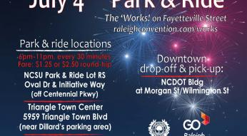 July 4 park and ride
