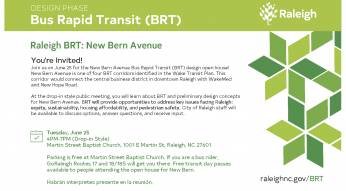Bus Rapid Transit new bern avenue