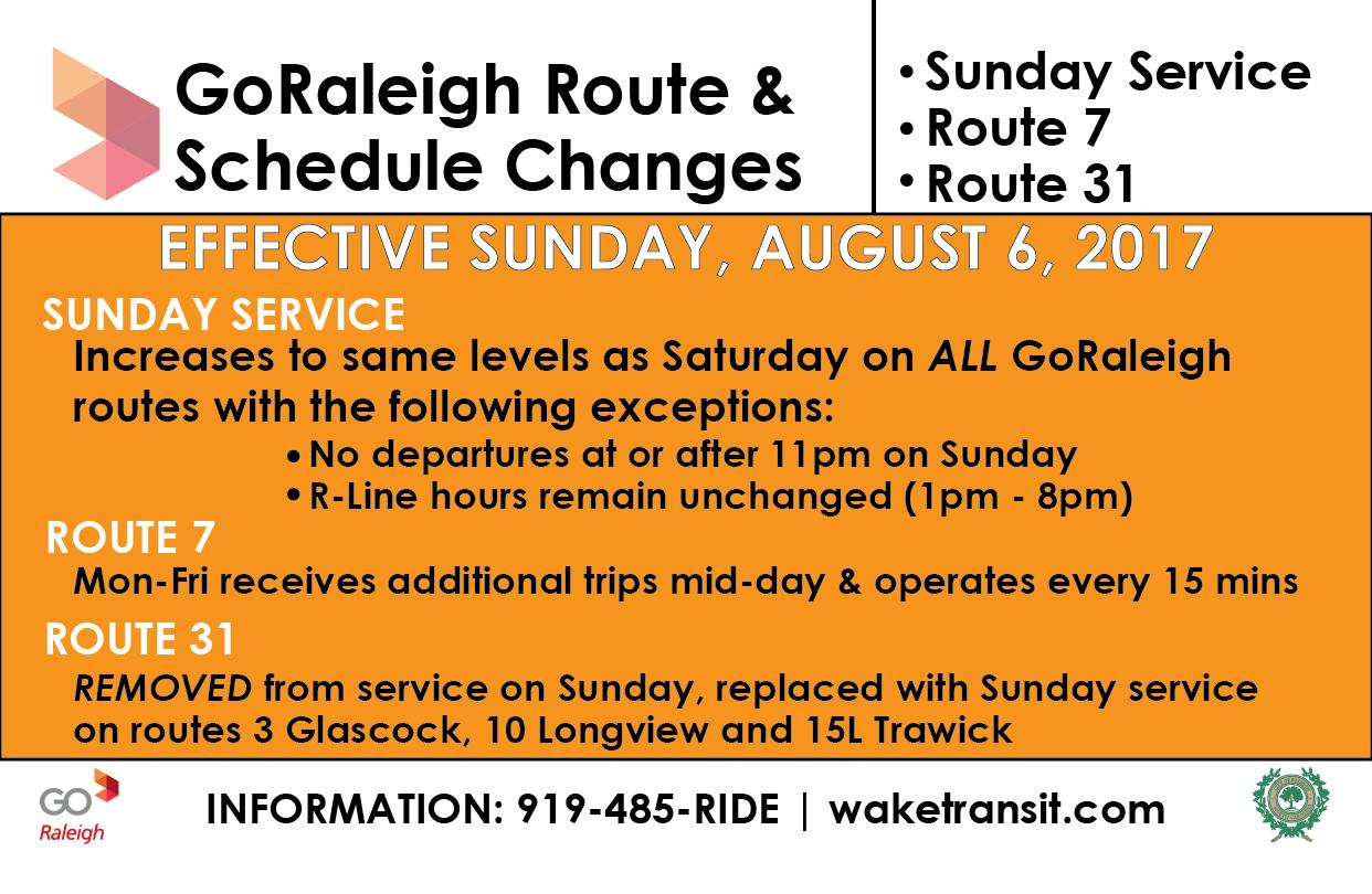 08/17 Service Changes