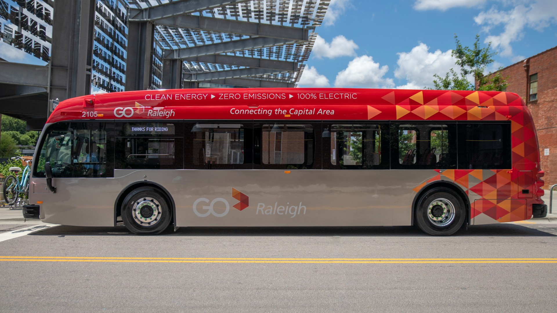 GoRaleigh Bus at Raleigh Union Station
