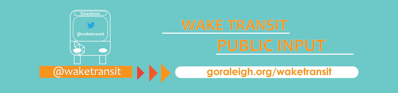 wake transit banner